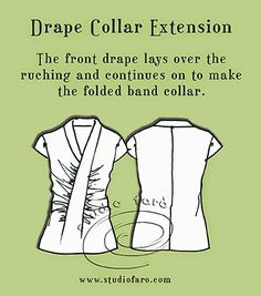 Download my fitted dress block to make this #PatternPuzzle - Drape Collar Extension