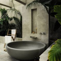 Bain outdoor par @block722architects #inspiration #bathroom #outdoor #architecture #decoration #design #space #home #crush