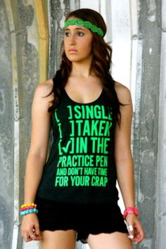 SINGLE TAKEN [X] IN THE ARENA AND DON'T HAVE TIME FOR YOUR CRAP (TRI-BLACK TANK)