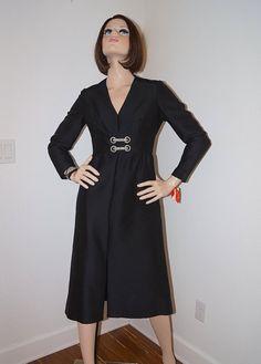 Black dress on pinterest wiggle dress black silk and vintage 1950s