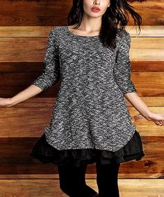 Love this Charcoal Marble Ruffle-Hem Tunic - Plus by Reborn Collection on #zulily! #zulilyfinds