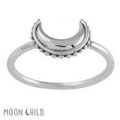Image of Beaded luna ring (Sterling Silver)