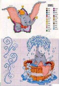 Dumbo cross stitch                                                                                                                                                                                 More