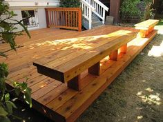 Low Deck with Floating Benches