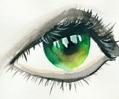 love watercolor eyes.