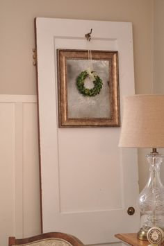 make a faux antiqued mirror from a thrift store frame