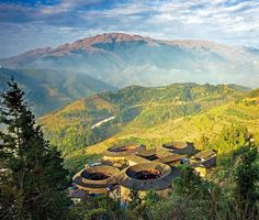 The Hakka Tulou: World Heritage treasures  The Hakka Tulou are large circular houses, mainly distributed in the bordering areas of Fujian Province (South China), mostly built between the 12th and the 20th centuries for defence purposes. These vernacular structures were occupied for a Hakka clan as housing for up to 800 people each.