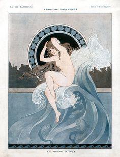La Vie Parisienne — Recent additions Flapper, Art Nouveau Poster, Joseph, Magazine Art, Magazine Covers, French Art, Antique Prints, Erotic Art, France