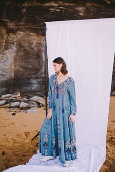 With their beautiful range of natural fabrics, values surrounding creativity and art, and close proximity to Australia, designer Sarah Hardie knew that she was destined to open a sustainable textile studio in Bali. Her collection of cotton, supima, and muslin women's dresses are feminine,