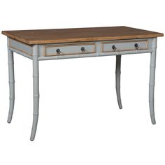 Bamboo Writing Desk - finished in Manor Griege with an Artisan Stained top