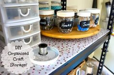 all the hints and tips to have an organised craft area... DIY - Organised Craft Storage! - Sparkles in the Everyday!