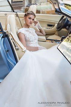alessandra rinaudo 2017 bridal cap sleeves boat neckline heavily embellished bodice romantic a  line wedding dress lace back chapel train (berta) zv