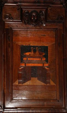 Fra Damiano Zambelli - Oggetti Liturgici - tarsie del coro - 1510-20 circa - Chiesa dei Santi Bartolomeo e Stefano - Bergamo (Italia)