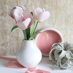 Blush Pink Paper Tulips