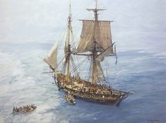 The HMS Sophie, as described in Master and Commander, is closely based on the genuine HMS Speedy, commanded by Thomas Lord Cochrane, Nautical Artwork, Nautical Prints, Master And Commander, Old Sailing Ships, Jon Boat, Duck Boat, Man Of War, Ship Paintings, Naval History