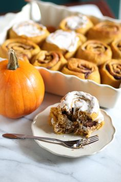 Pumpkin Fig Newton Cinnamon Rolls (whole wheat) from Pidges Pantry