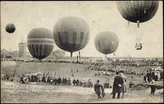 Internationale Ballon Wettfahrten, Berlin, 1908