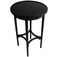 Small side table by Josef Hoffmann  Austria  1904  Vienna Secession small side table in ebonized beech wood with 4 spheres by Josef Hoffmann, produced by Thonet, c. 1904.