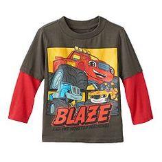 Blaze & the Monster Machines Toddler Boy Mock-Layer Tee