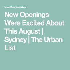 9 New Sydney Restaurant Openings We're Excited About This March Sydney Food, 5 News, Restaurant, Urban, Restaurants, Supper Club, Dining Room