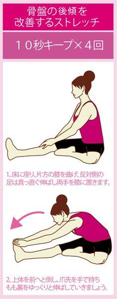 骨盤の後傾の原因と矯正に役立つストレッチ方法 | ダイエットなら美wise!