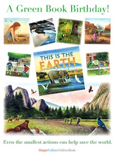 """Feb. 23 is Pub Day! From SLJ: """"A solid option for a read-aloud or for children to present as readers' theater. Minor's detailed watercolor spreads strongly support the writing by emphasizing Earth's natural beauty, the effects of industrialization on the environment, and the bright outcomes of treating the natural world with respect. An authors' note and an illustrator's note highlight the simple steps kids can take to go green. VERDICT A fine selection for reading and sharing."""" Children's Books, New Books, Readers Theater, Step Kids, Green Books, Recent News, Book Signing, Read Aloud, Go Green"""