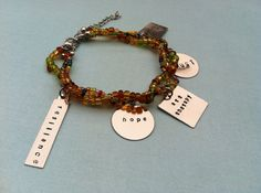Art Therapy charm bracelet. Handmade by Courtney Cox. Now on Etsy!