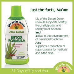 Great daily detox to help you absorb more nutrients and help lower harmful toxins. #Lilyandyou