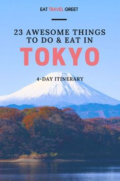 Learn here 23 awesome things you should do and eat in 4 days Tokyo, Japan #destinationguide #cityguide #travelguide #traveltips #foodtips #streetfood #tokyo #japan