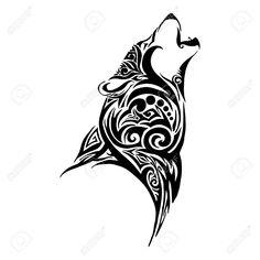 White Wolf Clipart howl design 7 - 1300 X 1300 Free Clip Art stock illustration . Tribal Animal Tattoos, Tribal Wolf Tattoo, Wolf Tattoo Sleeve, Tribal Animals, Tribal Sleeve Tattoos, Wolf Tattoo Design, Wolf Design, Chest Tattoo, Geometric Wolf Tattoo