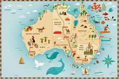 Fun Australia map by Nate Padavick #map #australia