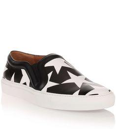 Givenchy - Black white stars slip-on from Savannahs