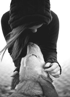 A girl and her dog....