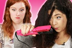 Curly-Haired Girls Try Bizarre Hair Straighteners