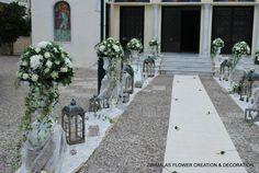 ρομαντικος στολισμος γαμου με αμφορεις Sidewalk, Bride, Wedding Dresses, Wedding Ideas, Valentines Day Weddings, Wedding Bride, Bride Dresses, Bridal Gowns, Bridal