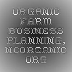 Organic Farm Business Planning, NCOrganic.org