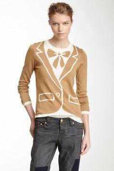 LOVE Moschino Wool Blend Tuxedo Knit Sweater on HauteLook