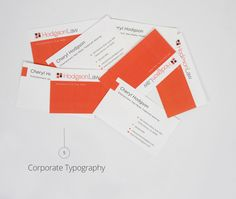 Law Firm - Business Card Design
