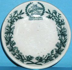 Vintage New Orleans Grunewald Hotel Caterers China Butter Pat Dish (later became The Roosevelt Hotel, Fairmont and now Roosevelt again...