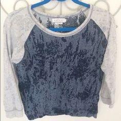 I just added this to my closet on Poshmark: Velvet Brand Navy Raglan Burnout Sweatshirt. Price: $18 Size: M