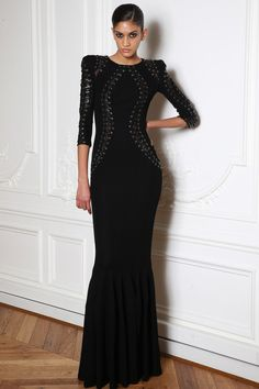 @roressclothes clothing ideas #women fashion black maxi dress Zuhair Murad Fall 2014-2015 Collection