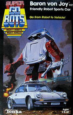 "go bots baron von joy   GoBots ""Baron von Joy"" Super Transforming Robot (Tonka) *SOLD*"