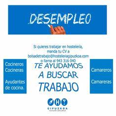 Si quieres trabajar en #Hostelería, pincha sobre la imagen. No dudes: #Donostia #Gipuzkoa