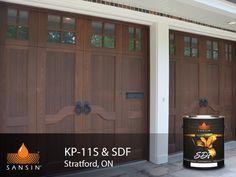 Sansin Stain - Naturally perfect wood protection. Cedar Carriage Garage Doors. Wood Doors. Garage Doors. Wood Stain.