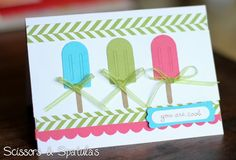 Today Lifestyle Crafts released their newest line of QuicKutz Cutting Dies!!The Pool Party Cutting Dies are so fun and perfect for summertime crafts and scrapbooking! Check them out...As shown above, I used the popsicles to make a fun