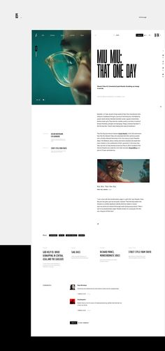 Online magazine about life, society, culture and style Minimal Web Design, Web Ui Design, Site Design, Design Set, Graphic Design, Design Ideas, Webdesign Inspiration, Web Inspiration, Website Layout