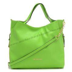 Michael Kors Large Leather Shoulder Bag Green