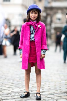 London s Street Style Is Officially Calling—Check Out the Coolest Snaps  from LFW Cute Kids edc82276d8d7