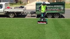 Cylinder lawn mowing Wagga - YouTube