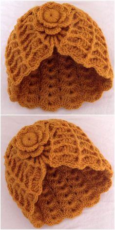 Easy Crochet Patterns, Crochet Designs, Crochet Stitches, Knitting Patterns, Crochet Ideas, Crochet Cap, Crochet Gloves, Crochet Beanie, Flower Crochet